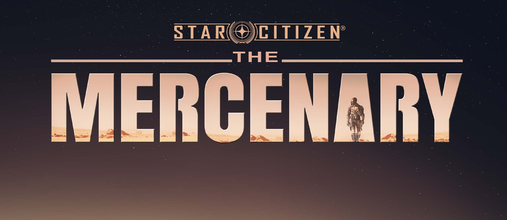 """Read more about the article """"The Mercenary"""" :: a """"The Mandalorian"""" poster recreated in Star Citizen"""