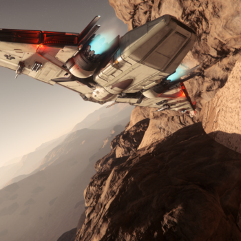 Nap-of-the-earth flight on Daymar