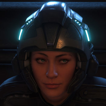 The Girl with the Helmet