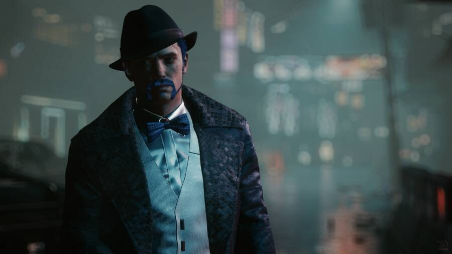Cyberpunk 2077: Me, as V, playing Edward James Olmos as Gaff