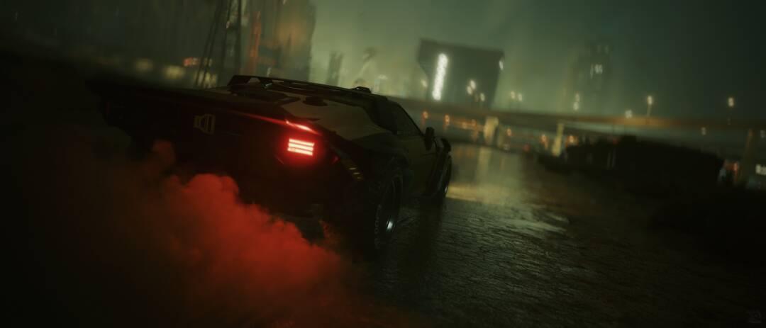 Cyberpunk 2077: Rainy Night Drive