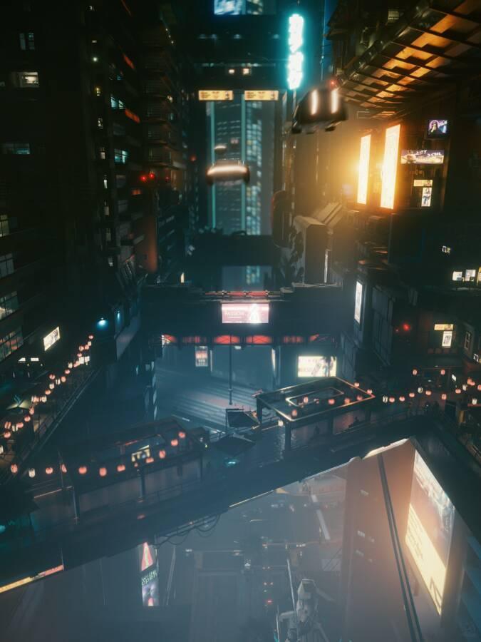 Cyberpunk 2077: Busy Corridor