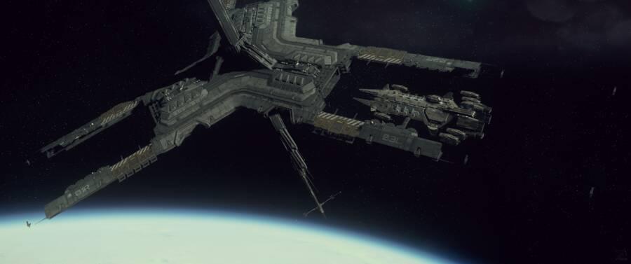 Star Citizen: Javelin docked