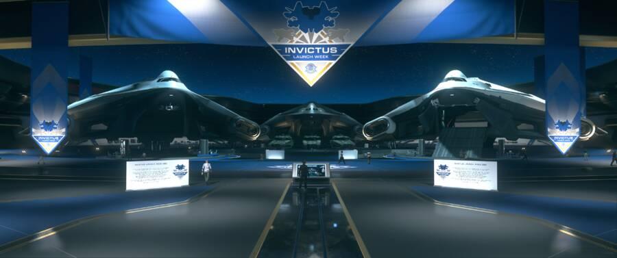Star Citizen: Invictus Fleet Week Crusader floor