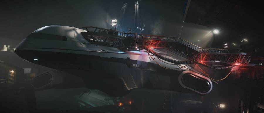 Star Citizen: Crusader Starlifter under repair