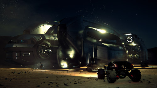 Star Citizen: Late night pit stop