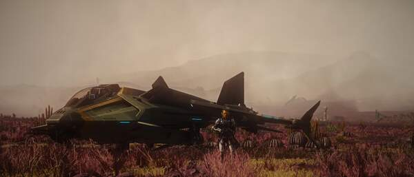 Star Citizen: Gladius on Hurston