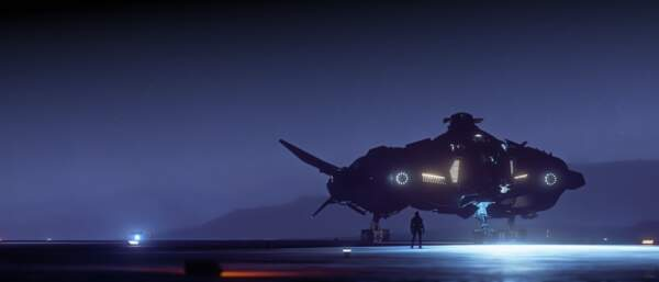 Star Citizen: Vanguard at night
