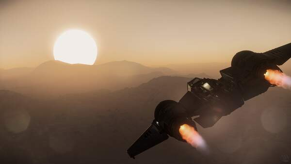 Star Citizen: Flying into a Daymar Sunset