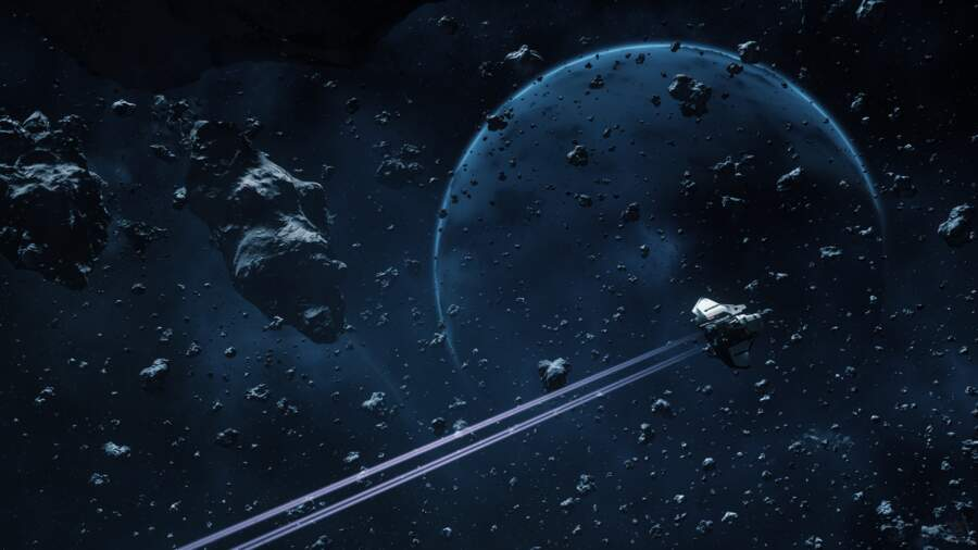 Star Citizen: Navigating the smaller asteroids around Delamar