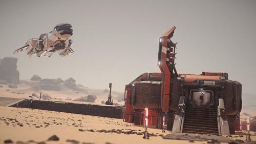 Star Citizen: Landing at Shubin