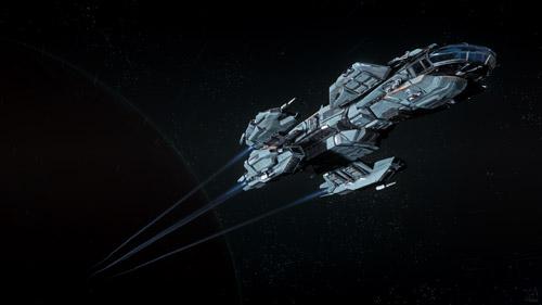 Star Citizen: Aquila Escaping Cellin