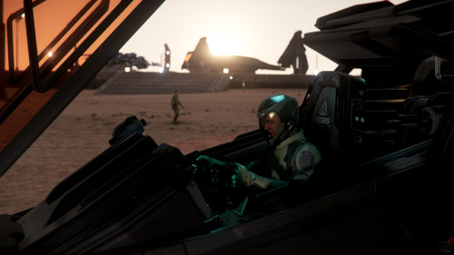 Star Citizen: Eclipse prepping for a mission