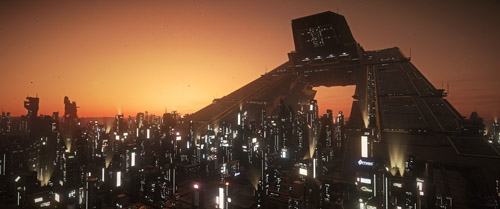 Star Citizen: Lorville at Dusk