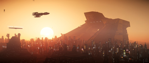 Star Citizen: Lorville Sunset