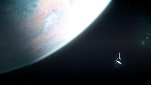 Star Citizen: Mako approaching Magda