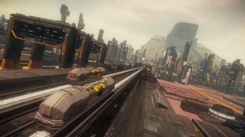 Star Citizen: Passing trains
