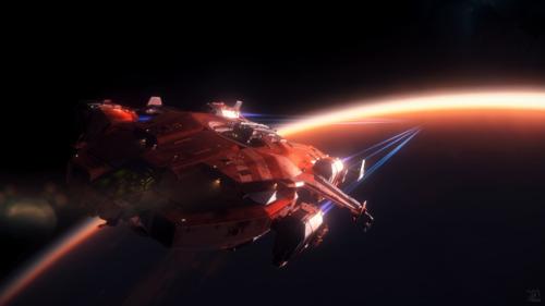 Star Citizen: Valkyrie over Hurston