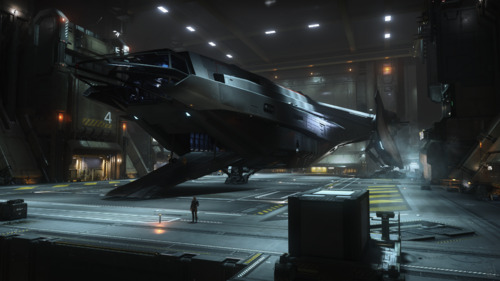 Star Citizen: Carrack in Hangar