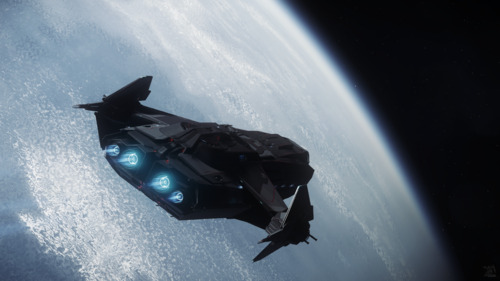 Star Citizen: Carrack over Lyria