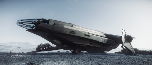 Star Citizen: Carrack Unloading on Lyria