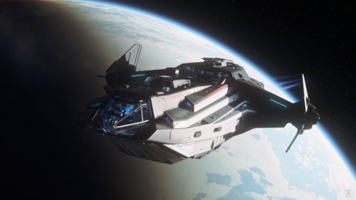 Star Citizen: Carrack Over microTech